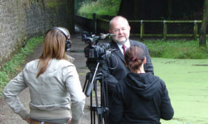 MP Davis Heyes being interviewed for the programme