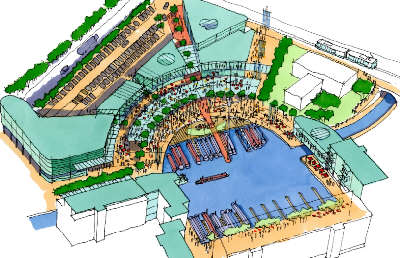 Droylsden Marina Development - artists impression